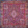 رومیزی ترمه طرح سپهسالار - مربع 100×100 سانتی متر - رنگ زرشکی تار مشکی
