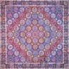 رومیزی ترمه طرح هفت خوان - مربع ۱۰۰×۱۰۰ سانتی متر - رنگ مشکی تار مشکی