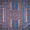 رومیزی ترمه طرح الوان - مربع ۱۰۰×۱۰۰ سانتی متر - رنگ فیروزه ای تار مشکی
