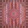 رومیزی ترمه طرح الوان - مربع ۱۰۰×۱۰۰ سانتی متر - رنگ قهوه ای تار مشکی