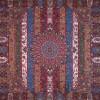 رومیزی ترمه طرح الوان - مربع ۱۰۰×۱۰۰ سانتی متر - رنگ زرشکی تار مشکی