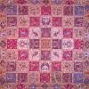 رومیزی ترمه طرح خشتی - مربع 100×100 سانتی متر - رنگ کرم پر رنگ تار مشکی