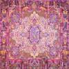 رومیزی ترمه طرح کوروش - مربع ۱۰۰×۱۰۰ سانتی متر - رنگ کرم پر رنگ تار مشکی