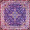 رومیزی ترمه طرح سپهر -  مربع ۱۰۰×۱۰۰ سانتی متر - رنگ سرمه ای تار مشکی