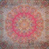 رومیزی ترمه طرح شاهدخت - مربع 100×100 سانتی متر - رنگ قرمز مات تار مشکی