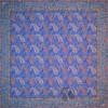 رومیزی ترمه طرح کج راه - مربع ۱۰۰×۱۰۰ سانتی متر - رنگ فیروزه ای تار مشکی