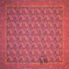 رومیزی ترمه طرح کج راه - مربع ۱۰۰×۱۰۰ سانتی متر - رنگ مشکی تار مشکی